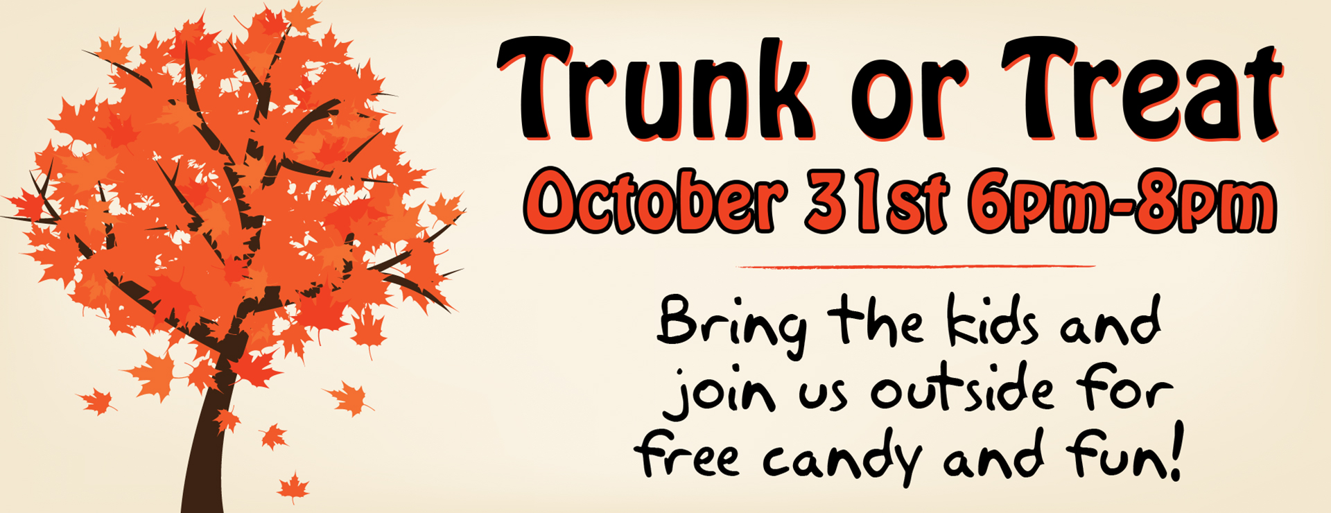 Trunk or Treat Tuesday October 31st